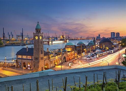 Hamburg at night, Germany